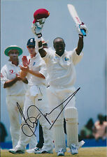 Brian LARA Signed Authentic Autograph Photo AFTAL COA Cricket West Indies Great