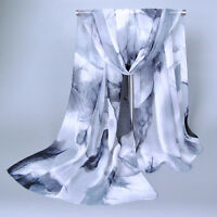 Fashion New Lady Women's Long Soft Wrap Ladies Shawl Silk Chiffon Scarf Scarves