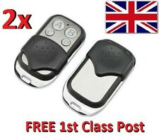 2x Universal Cloning Key Fob Remote Control Pair of Garage Doors Electric Gate
