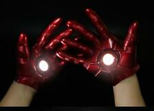 Second Generation 2PC The Avengers Iron Man Gauntlet  1:1 LED Light Hand Glove