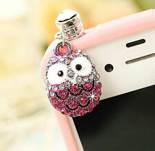 Anti Dust Plug For Samsung Galaxy S7 S6 Edge S5 S4 S3 S2 Note 2 3 4 5 Pink Owl