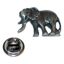 Elephant Zoo Safari British Pewter Pin Badge Tie Pin / Lapel Badge XDHLP1180