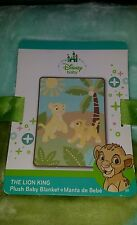 "NEW DISNEY BABY THE LION KING SIMBA PLUSH BABY BLANKET.  30"" X 40"""