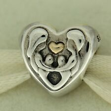 Authentic Pandora 791771 Heart of the Family 14K Gold Bead Charm