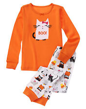 NWT Gymboree Halloween Cat Boo Pajamas PJs Gymmies 2PC 18-24 Months Baby Girl