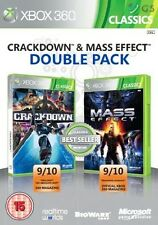 Crackdown & Mass Effect Double Pack Xbox 360 * NEW SEALED PAL *