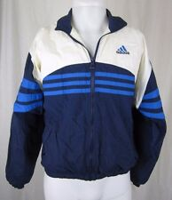 Vintage Adidas 90s Full Zip Up Cotton Lined Nylon Track Jacket Mens M Colorblock