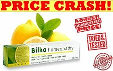 Bilka Homeopathy Natural whitening Toothpaste LEMON homeopathic 75ml