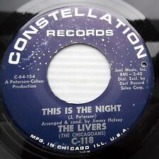 LIVERS aka CHICAGOANS 45 this is the night BEATLE time 1964 mod BEAT popcorn e26