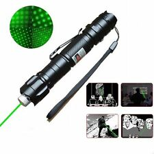 Military 5 Miles 532nm Green Laser Pointer Pen Visible Beam Light & Star Cap Set