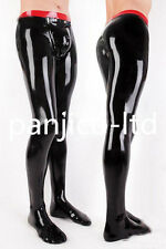 Latex Rubber Gummi Black and Red Fashion Pants Size XS-XXL