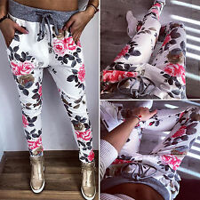 Womens Skinny Harem Pants Casual Jogger Dance Hip Hop Slacks Trousers Sweatpants