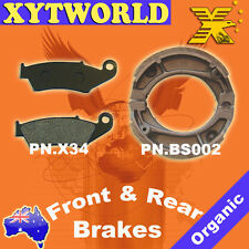 Front Rear Brake Pads Shoes Honda CTX200 200 Bushlander