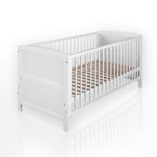 umbaubares Baby-und Kinderbett NATURA Weiss 140x70 mit Matratze