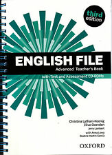 Oxford ENGLISH FILE THIRD EDITION 2015 Advanced TEACHER'S BOOK with CD-ROMs @NEW