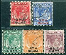[JSC]1945 Malaya Straits Settlements BMA King George MALAYA old stamps