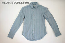 BAND OF OUTSIDERS Blue Stripe Button Down Shirt Darted Size Large L Made in USA