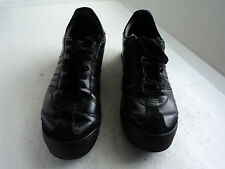 ADDIAS SAMOA  Men's 11.5 BLACK   Low Top ATHLETIC SNEAKERS Shoes