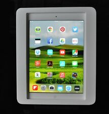 iPad Air Anti-Theft White Acrylic Desktop Stand for POS Kiosk Store Show Display