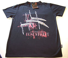 A Nightmare On Elm Street Mens Black Printed T Shirt Size M New