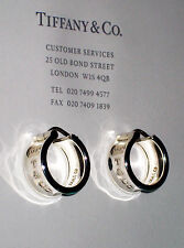 Tiffany & Co Sterling Silver 1837 Hoop Earrings
