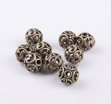New 10Pcs Tibetan silver Round Shaped Hollow Spacer Bead DIY Findings 2016