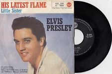 "ELVIS PRESLEY LITTLE SISTER / HIS LATEST FLAME RARE RECORD ITALY 7"" PS 45rpm"