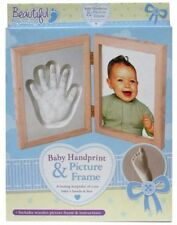 Beautiful Beginnings Baby Hand Print & Picture Frame Plaster Moulding