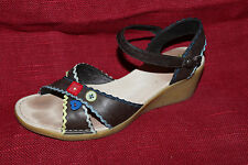CAMPER Leder Damen SCHUHE Sandalen TWINS Größe 37 Topzustand Leather SANDALS