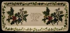 PORTMEIRION THE HOLLY AND THE IVY CHINA SANDWICH TRAY YULE LOG