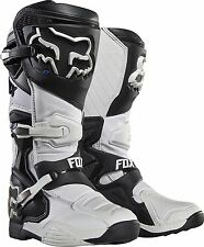 2017 Fox Racing Mens White Comp 8 Racing MX Moto Boots SIZE 10 16451-008-10