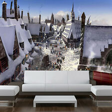 Wall removable sticker winter wizards town harry potter painting vinyl mural