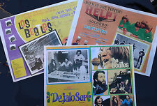 3 A4 photocopies of BEATLES MEXICAN LOBBY POSTERS.Help/Let it be/A hard day's