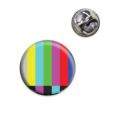 Test Television Color Bars Lapel Hat Tie Pin Tack