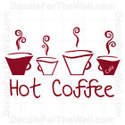 Hot Coffee Kitchen Wall Decal Vinyl Art Sticker Quote Decor Inspirational KI43