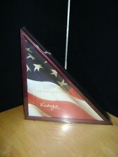 FLAG DISPLAY CASE Holder Wood Box - Cherry Finish  22 1/2 x 16 x 16