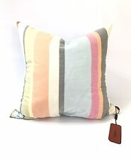 """missoni home pillow 26x26"""" new square feathers striped blue reversible cotton"""