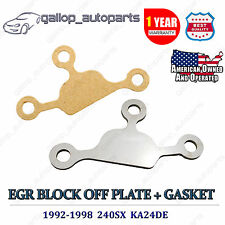 240SX EGR Block Off Delete Plate with Gasket Kit KA24DE Engine Stainless Steel