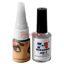 Pro. False Eyelashes Extension Adhesive Glue Primer Remover Liquid Debonder Set