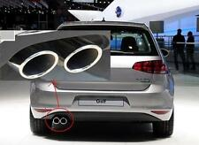 Stainless Steel Muffler Exhaust Tail Pipe Tip FOR VW GOLF 7 MK7 Exhaust new
