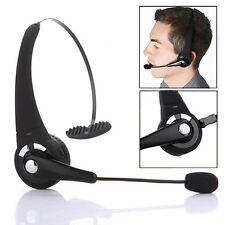Wireless Bluetooth Headset Earphone Headphone Boom Mic For Phone PS3