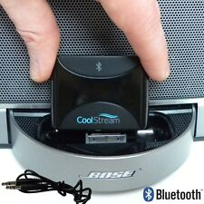 Bluetooth Receiver for Bose SoundDock CoolStream Duo iPod connector & aux jack.