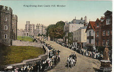 King Driving Down Castle Hill, WINDSOR, Berkshire