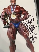 Ronnie Coleman Signed AUTO 4x6 Photo Bodybuilder Mr Olympia