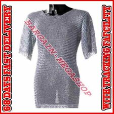 Medieval Aluminium Chainmail Shirt Butted Chain Mail Role Play Armour XL Size s1