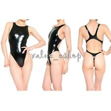 New Women Sexy One Piece Metallic Bodysuit Leotard Summer Beach Bikinis Swimsuit