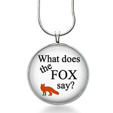 Fox Pendant Necklace, What does fox say? Pendant, fashion jewelry, gifts