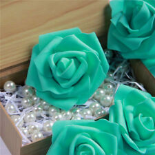 50 Colourfast Foam Rose Artificial Flower Wedding Bride Bouquet Party Decoration