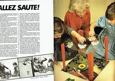 PUBLICITE ADVERTISING 126  1978  Gay-Play (2p)  jeux jouets  Allez saute