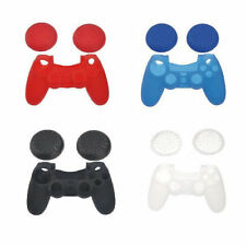 Silicone Skin Case Cover + Joystick Thumbstick Caps for Sony PlayStation 4 PS4